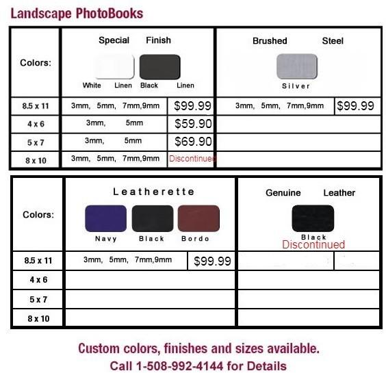 unibind landscape photobooks